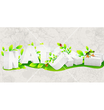 Free nature 3d text vector - vector gratuit #258757