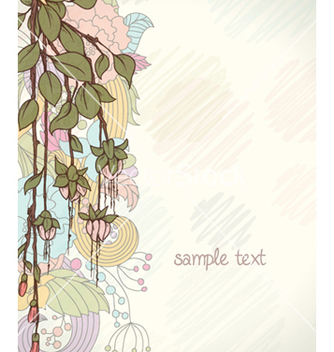 Free abstract floral background vector - Free vector #258837