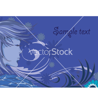 Free lady with floral vector - vector #258867 gratis
