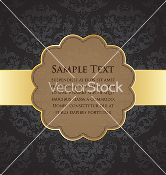 Free vintage gold label vector - бесплатный vector #259127