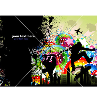 Free grunge urban poster vector - Free vector #259207