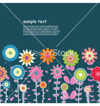 Free retro floral background vector - vector gratuit #259217