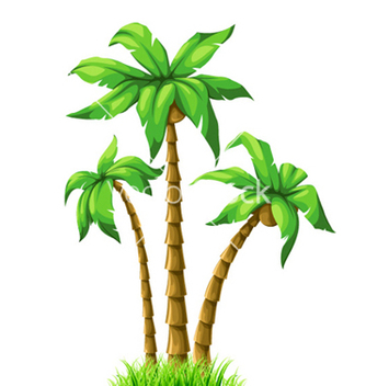 Free summer with palm trees vector - Free vector #259307