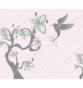 Free abstract tree with bird vector - vector gratuit #259697