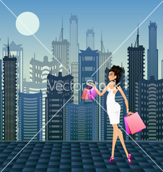 Free shopping girl vector - vector gratuit #259717