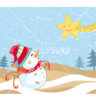 Free winter background vector - vector #259757 gratis