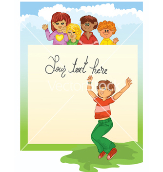 Free kids playing vector - Free vector #259817