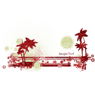 Free grunge summer vector - Free vector #259827