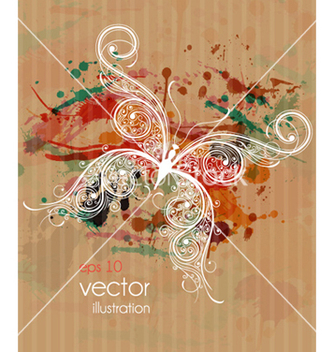 Free butterfly made of floral vector - Free vector #260087