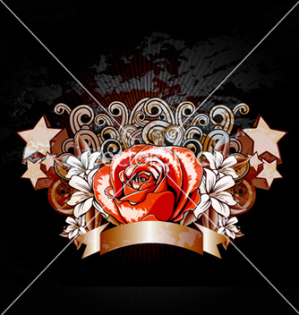 Free rose with ribbon vector - бесплатный vector #260177