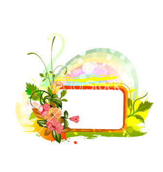 Free spring floral frame vector - Free vector #260207