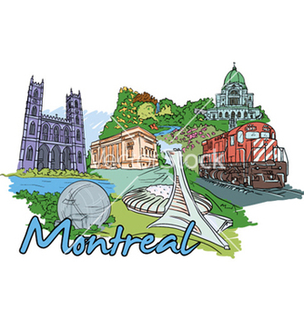 Free montreal doodles vector - Free vector #260357