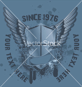 Free vintage emblem with shield vector - Kostenloses vector #260377