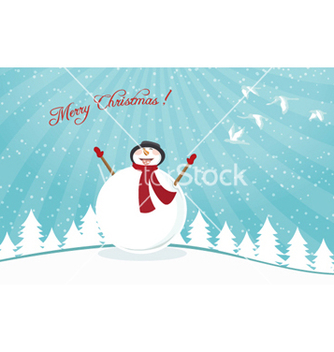 Free christmas card vector - бесплатный vector #260417