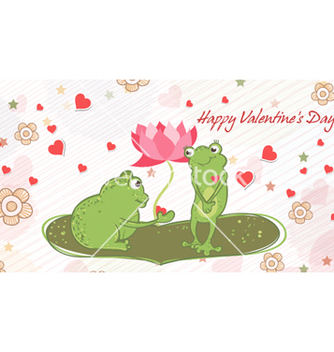 Free frogs in love vector - vector #260737 gratis