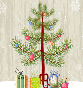 Free christmas tree and presents vector - vector gratuit #260747