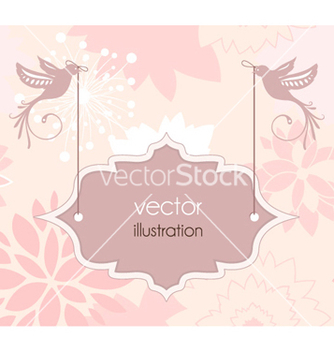 Free abstract floral frame vector - Free vector #260837