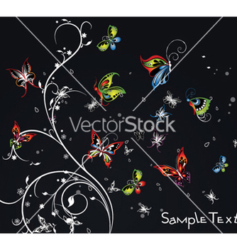 Free abstract floral background vector - Free vector #260877