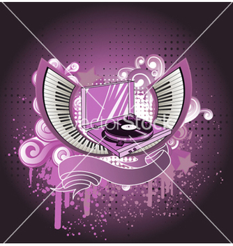 Free music background vector - Free vector #261167