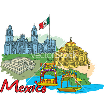Free mexico doodles vector - бесплатный vector #261197