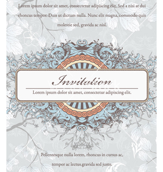 Free vintage invitation vector - бесплатный vector #261477