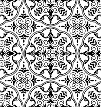 Free arabesque seamless pattern vector - Free vector #261817