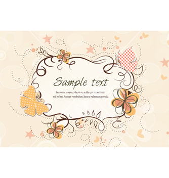 Free abstract floral frame vector - Free vector #262037