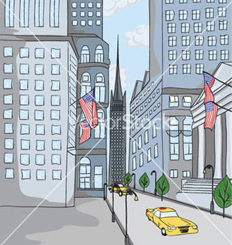 Free new york cartoon background vector - vector gratuit #262077