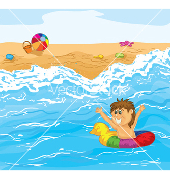Free kid playing in water vector - бесплатный vector #262107
