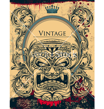 Free vintage background with totem vector - Free vector #262147