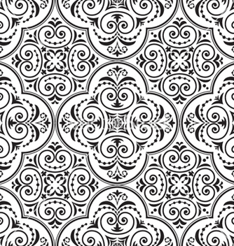 Free arabesque seamless pattern vector - Free vector #262207