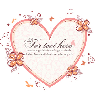 Free heart with floral vector - vector #262227 gratis