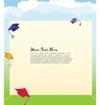 Free graduation hats vector - бесплатный vector #262427