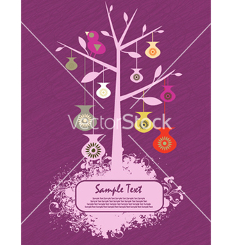 Free abstract tree with grunge vector - vector #262437 gratis