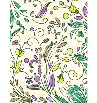 Free doodles floral background vector - Free vector #262447