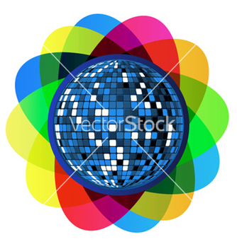 Free colorful disco ball vector - vector gratuit #262717