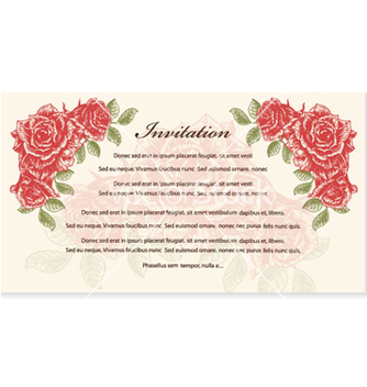 Free vintage invitation vector - бесплатный vector #262777