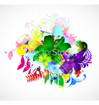 Free colorful floral vector - vector #263077 gratis
