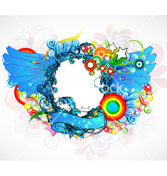Free colorful floral frame vector - бесплатный vector #263097