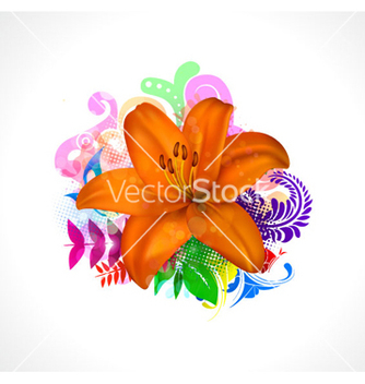 Free colorful floral background vector - Free vector #263117