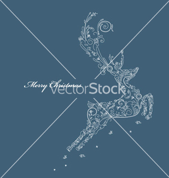 Free reindeer made of floral vector - vector gratuit #263307