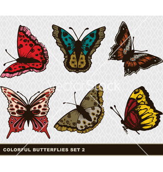 Free colorful butterflies set vector - Free vector #263317