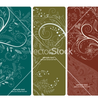 Free abstract floral banners set vector - Free vector #263357