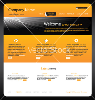 Free editable website template vector - Free vector #263387