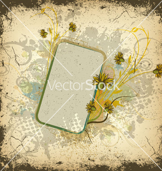 Free colorful grunge floral frame vector - Kostenloses vector #263397