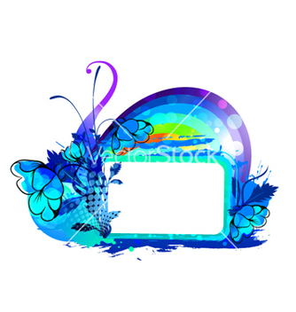 Free colorful floral frame vector - Kostenloses vector #263447