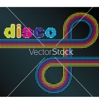 Free abstract disco background vector - Free vector #263467