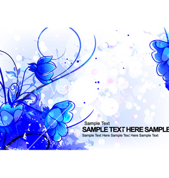 Free colorful floral background vector - vector #263547 gratis