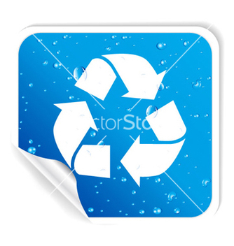 Free recycle sticker vector - vector gratuit #263667