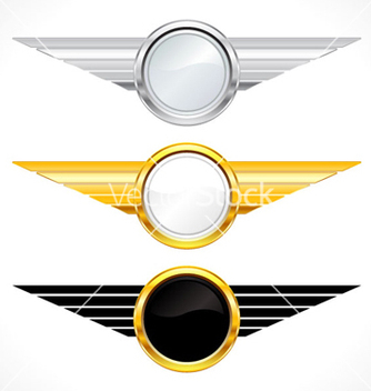 Free gold emblems set vector - бесплатный vector #263767